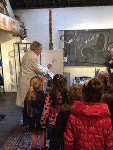 Jacques Beelen geeft schilderdemonstratie