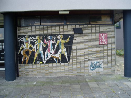 Entree flatgebouw Batavierenweg